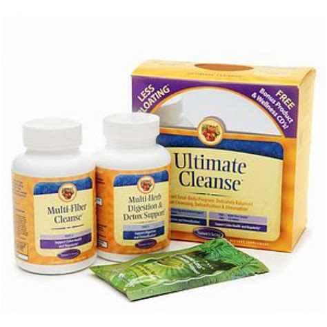Ultimate Detox Ingredients by Natures Secret Ultimate Cleanse 120 120 Tablets The
