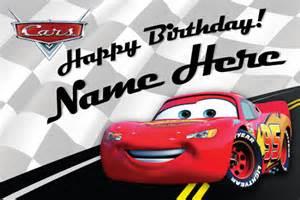 Lightning Mcqueen Birthday Card Free Custom Disney Birthday Card Lightning Mcqueen