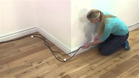 baseboard conduit how to d line mini trunking above baseboards skirting