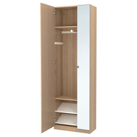 pax armoire pax wardrobe white stained oak effect nexus vikedal