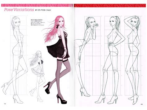 fashion design referenced zeshu takamura super fashion dessin vol basic pose