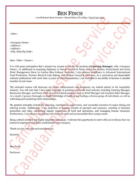Cover Letter For Hospitality by Hospitality Manager Cover Letter Sle Exle