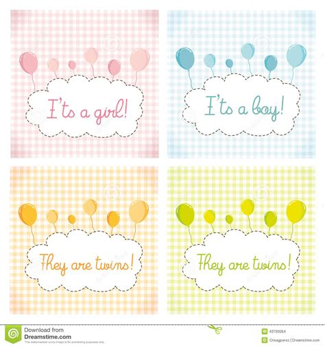 baby shower card template pack baby shower invitation card template stock