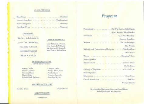 church banquet program template
