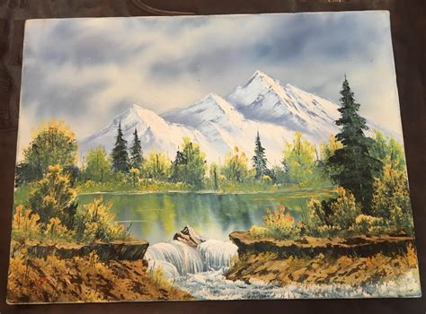 bob ross painting reddit my got me an original signed bob ross painting for