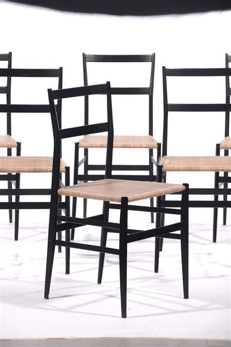 gio ponti sedia gio ponti sei sedie superleggera in frassino laccato
