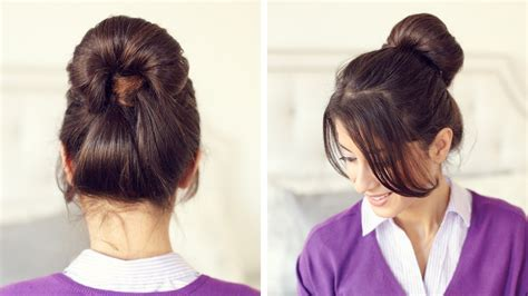 hairstyles buns youtube inside out ponytail bun youtube