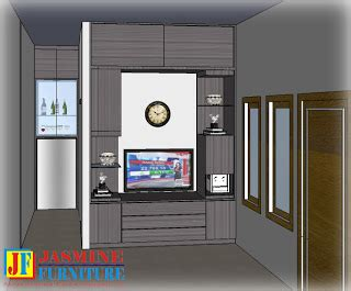 katalog produk desain backdrop tv jasmine furniture produk