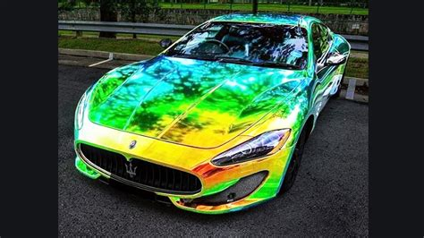 color changing vinyl wrap color changing chrome compilation of cars in