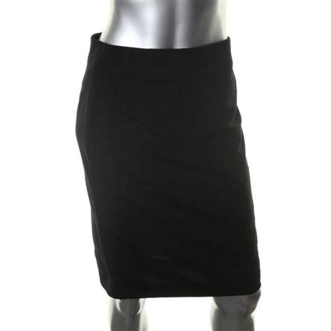 alfani new black solid above knee bandage pencil skirt xs