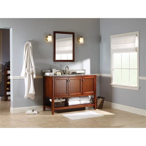 open bathroom vanity cabinet auguste 48 inch bathroom vanity in chestnut with three