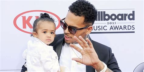 chris brown a father wwwsaidcedcom chris brown s 2 year old daughter shows us that she s