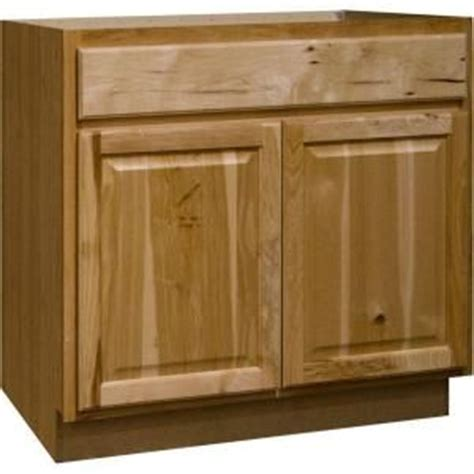 hickory kitchen cabinets home depot hton bay 36x34 5x24 in sink base cabinet in natural hickory ksb36 nhk at the home depot