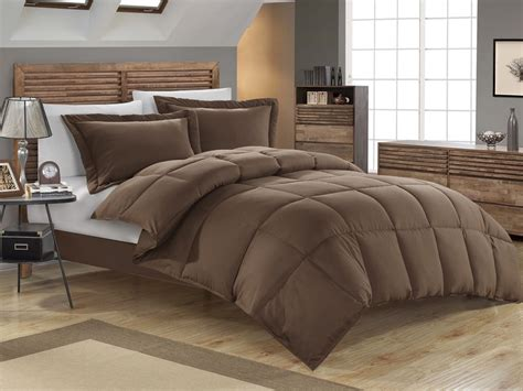 queen down comforter sets chocolate down alternative comforter set