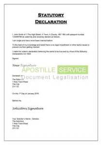 statutory declaration template apostille for statutory declarations legalisation service