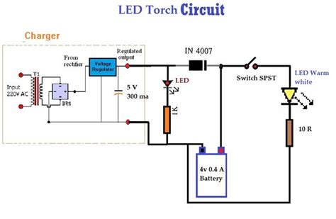 Rechargeable Led L Circuit Diagram by Led Torch