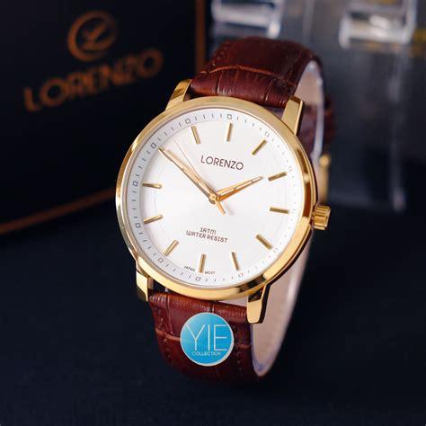 Jam Tangan Lorenzo 3 lorenzo original jam tangan pria kulit water resist 1 atm