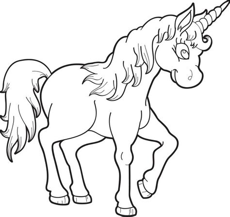 preschool unicorn coloring pages free printable unicorn coloring page for kids 1