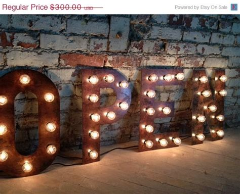 lettere giganti da stare sale weekend on sale open sign vintage style metal letters