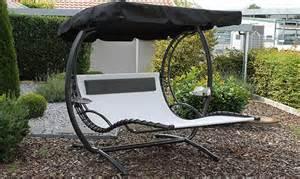 balancelle de jardin 2 places en acier et polyester