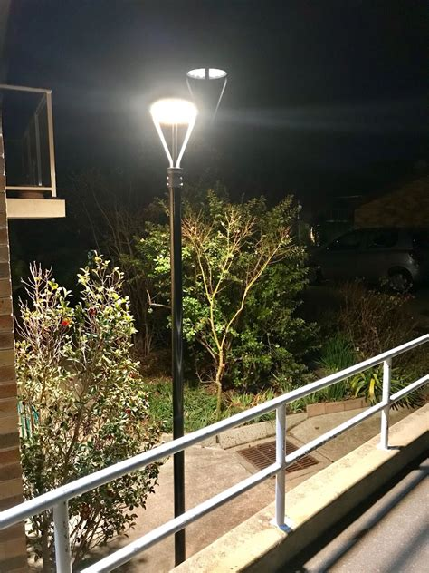 led post top area light fixtures applied  apartment