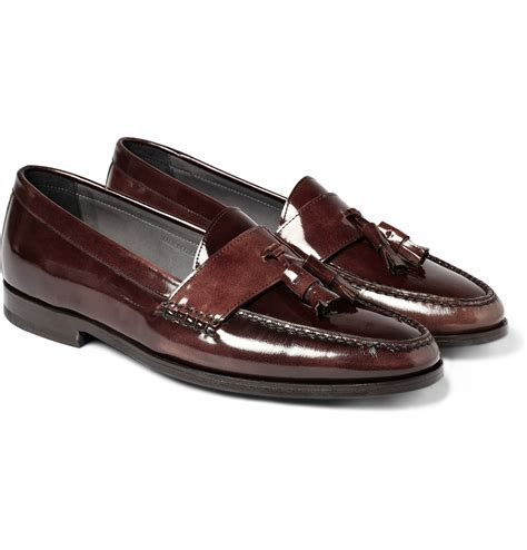 lanvin loafers lanvin patent leather loafers with front tassels
