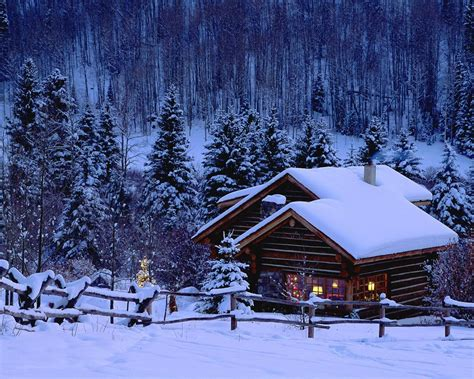 Snowy Cabins by Free Wallpaper Wallpapers For Mac Wallpapers For