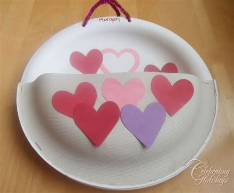 valentines card holder valentine s day heavy duty paper plate card holder
