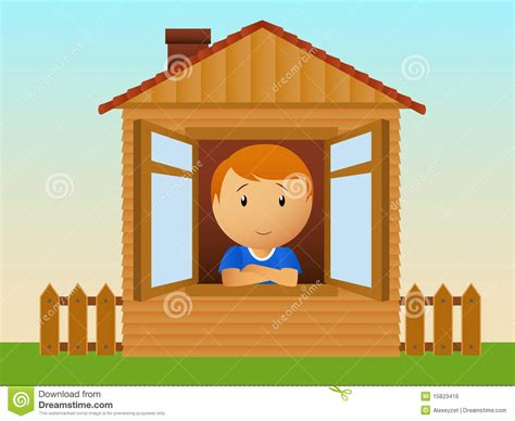 house of boys boy in the house stock vector illustration of fence 15823416