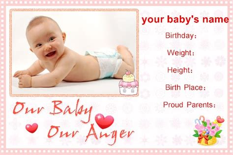 baby announcements templates free photo templates baby birth announcement