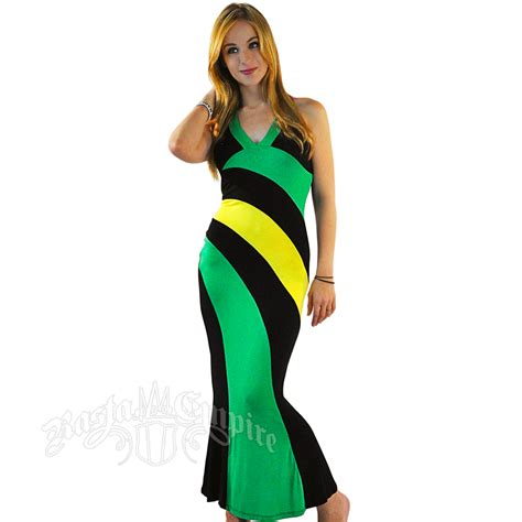 Dres Jamaica jamaican halter dress rastaempire