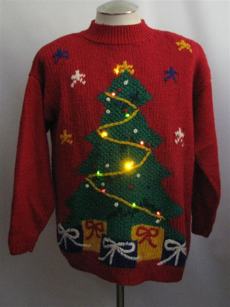 ugly christmas multicolored light up christmas sweater