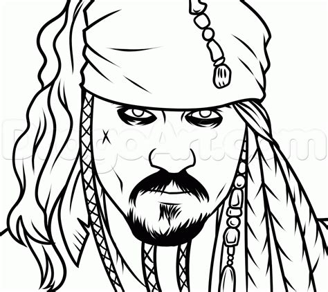 how to draw jack sparrow easy step by step characters pop culture free coloring pages of do jack sparrow