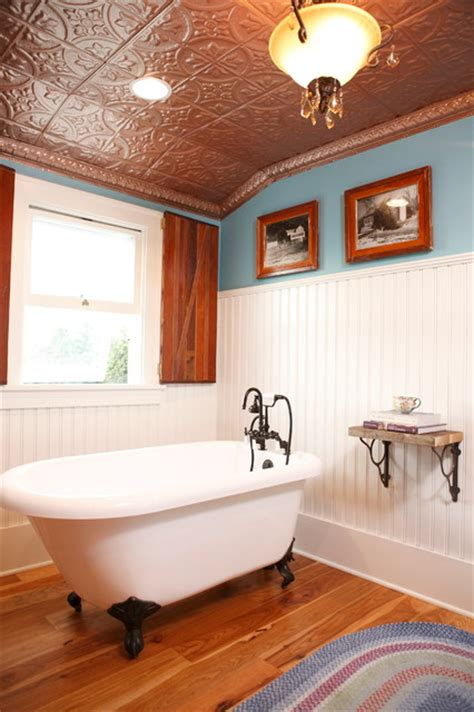 Tin Ceiling In Bathroom by Traditional Copper Ceiling Farmhouse Bathroom Other