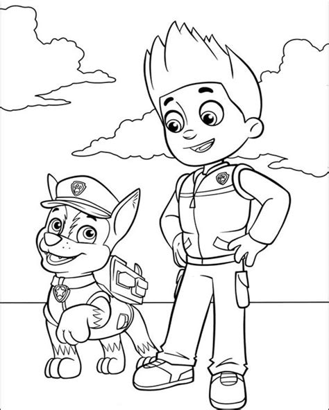 printable coloring pages paw patrol chase from paw patrol free colouring pages