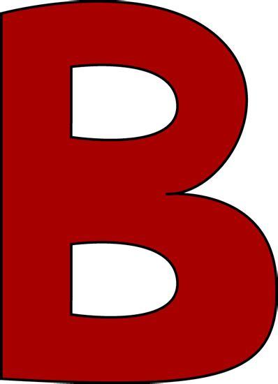 Red Letter B Clip Art   Red Letter B Image