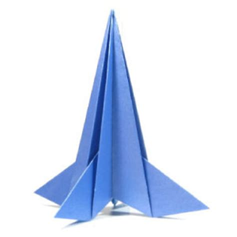 How To Fold A Paper Rocket - how to make a 3d origami rocket page 1