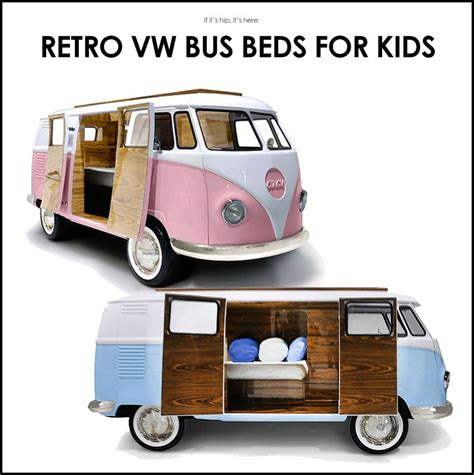 Retro Kitchen Design Pictures limited edition retro vw bus bed for kids in blue or pink