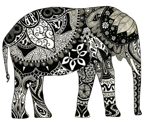 pattern elephant meaning patterned elephant tumblr