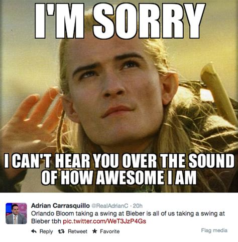 Orlando Bloom Meme - orlando bloom tried to punch justin bieber and the