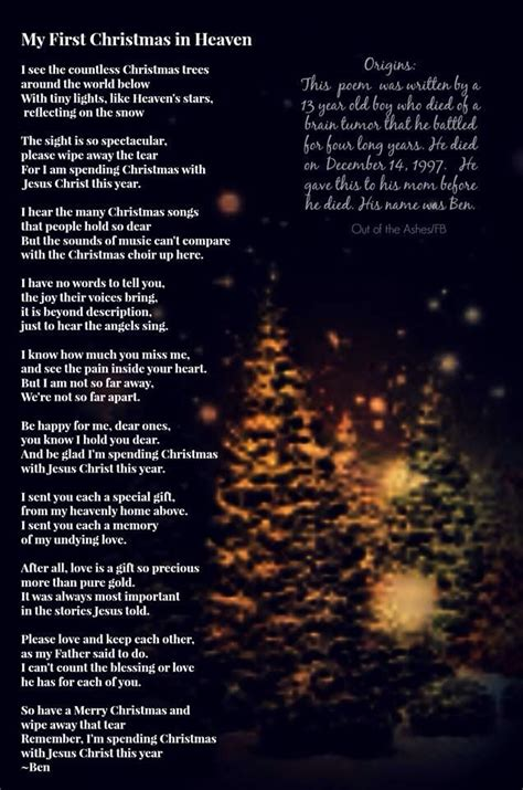 christmas with jesus this year in heaven poems heavens poem and thoughts