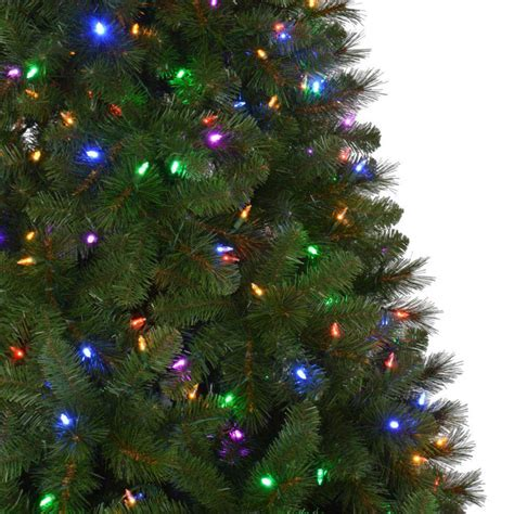 christmas tree lights with multiple settings home accents 7 5 ft pre lit led wesley spruce set artificial tree with