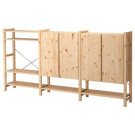 ikea ivar cabinets ivar 3 sections shelves cabinet pine 259x30x124 cm ikea
