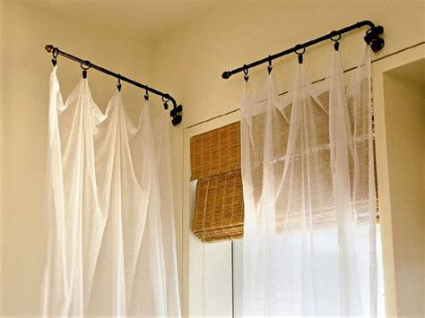 curtain rods that swing open 17 best ideas about shower curtain rods on pinterest