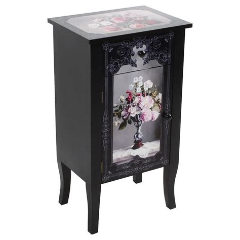 Wooden Commode by Wooden Commode W Roses 40χ30χ73 Inart Furniture