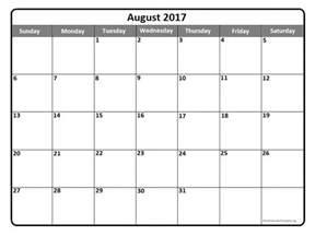august calendar template august 2017 calendar template calendar printable free