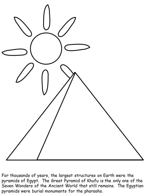 free coloring pages of the pyramids