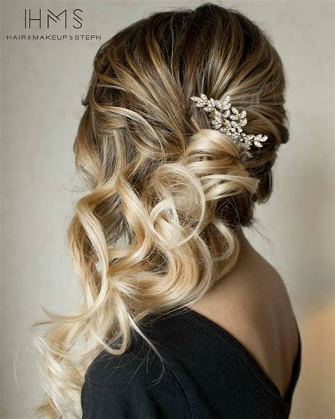 bridal hsirstyle back side side swept hair beauty pinterest side sweep hair