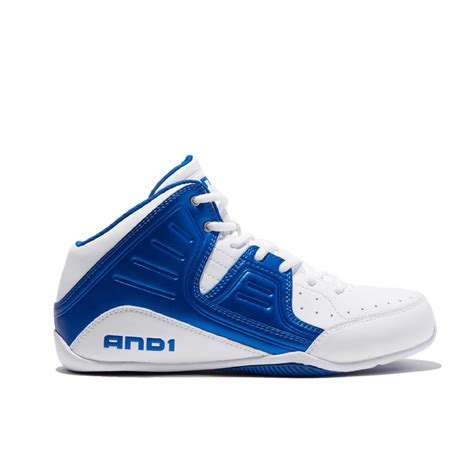 and 1 s rocket 4 blue white high top athletic shoe