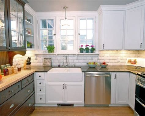 farmhouse kitchen backsplash white tile backsplash farmhouse kitchens and rustic